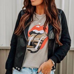 Rolling Stones Camo Lips Tee